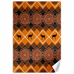 Traditiona  Patterns And African Patterns Canvas 24  x 36