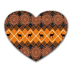 Traditiona  Patterns And African Patterns Heart Mousepads