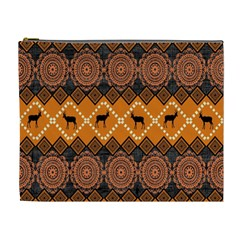 Traditiona  Patterns And African Patterns Cosmetic Bag (XL)