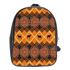 Traditiona  Patterns And African Patterns School Bags(Large)