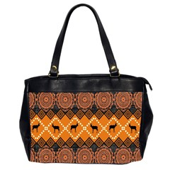 Traditiona  Patterns And African Patterns Office Handbags (2 Sides)