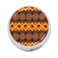 Traditiona  Patterns And African Patterns 4 Port Usb Hub (two Sides)