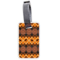 Traditiona  Patterns And African Patterns Luggage Tags (Two Sides)