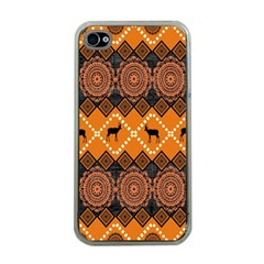 Traditiona  Patterns And African Patterns Apple iPhone 4 Case (Clear)