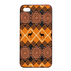 Traditiona  Patterns And African Patterns Apple iPhone 4/4s Seamless Case (Black)