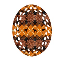 Traditiona  Patterns And African Patterns Oval Filigree Ornament (Two Sides)