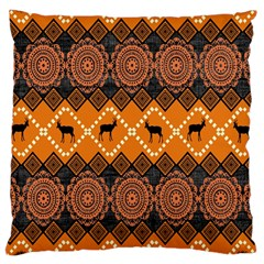 Traditiona  Patterns And African Patterns Large Cushion Case (Two Sides)