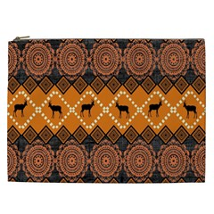 Traditiona  Patterns And African Patterns Cosmetic Bag (XXL)