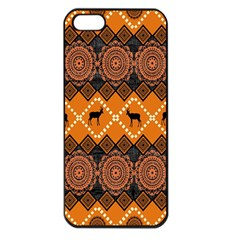 Traditiona  Patterns And African Patterns Apple iPhone 5 Seamless Case (Black)