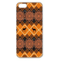 Traditiona  Patterns And African Patterns Apple Seamless iPhone 5 Case (Clear)