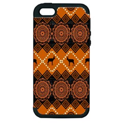 Traditiona  Patterns And African Patterns Apple iPhone 5 Hardshell Case (PC+Silicone)