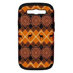 Traditiona  Patterns And African Patterns Samsung Galaxy S III Hardshell Case (PC+Silicone)