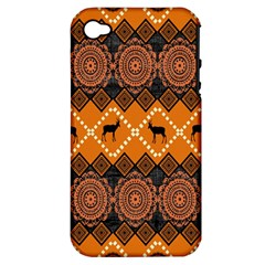 Traditiona  Patterns And African Patterns Apple iPhone 4/4S Hardshell Case (PC+Silicone)