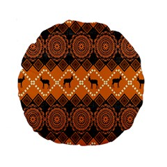 Traditiona  Patterns And African Patterns Standard 15  Premium Round Cushions