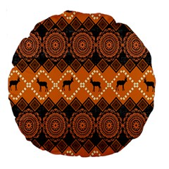 Traditiona  Patterns And African Patterns Large 18  Premium Round Cushions