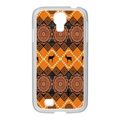 Traditiona  Patterns And African Patterns Samsung GALAXY S4 I9500/ I9505 Case (White)