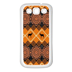 Traditiona  Patterns And African Patterns Samsung Galaxy S3 Back Case (White)
