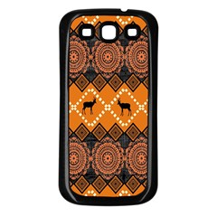 Traditiona  Patterns And African Patterns Samsung Galaxy S3 Back Case (Black)