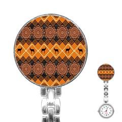 Traditiona  Patterns And African Patterns Stainless Steel Nurses Watch
