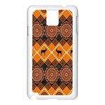Traditiona  Patterns And African Patterns Samsung Galaxy Note 3 N9005 Case (White) Front