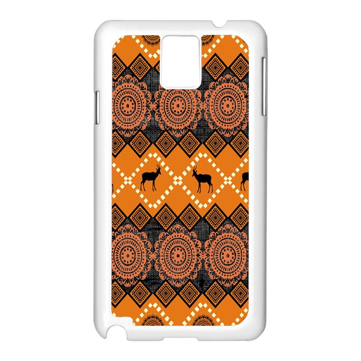 Traditiona  Patterns And African Patterns Samsung Galaxy Note 3 N9005 Case (White)