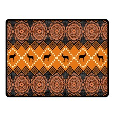 Traditiona  Patterns And African Patterns Double Sided Fleece Blanket (Small)
