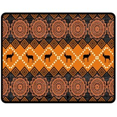 Traditiona  Patterns And African Patterns Double Sided Fleece Blanket (Medium)