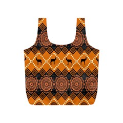 Traditiona  Patterns And African Patterns Full Print Recycle Bags (S)