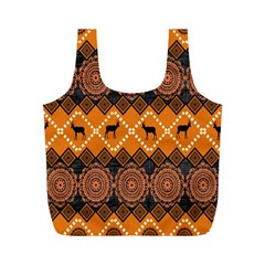 Traditiona  Patterns And African Patterns Full Print Recycle Bags (M)