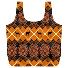 Traditiona  Patterns And African Patterns Full Print Recycle Bags (L)