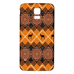Traditiona  Patterns And African Patterns Samsung Galaxy S5 Back Case (White)