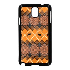 Traditiona  Patterns And African Patterns Samsung Galaxy Note 3 Neo Hardshell Case (Black)