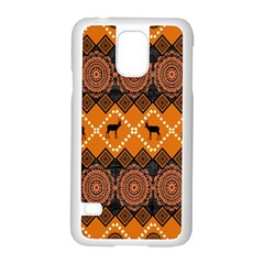 Traditiona  Patterns And African Patterns Samsung Galaxy S5 Case (White)