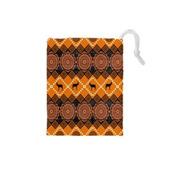 Traditiona  Patterns And African Patterns Drawstring Pouches (Small)