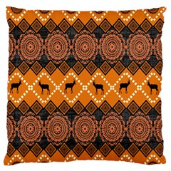 Traditiona  Patterns And African Patterns Large Flano Cushion Case (Two Sides)