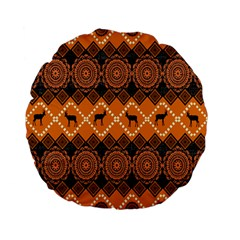 Traditiona  Patterns And African Patterns Standard 15  Premium Flano Round Cushions