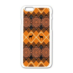 Traditiona  Patterns And African Patterns Apple iPhone 6/6S White Enamel Case