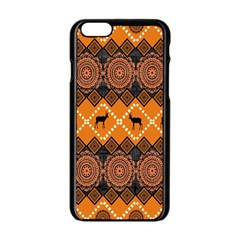 Traditiona  Patterns And African Patterns Apple iPhone 6/6S Black Enamel Case