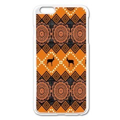 Traditiona  Patterns And African Patterns Apple iPhone 6 Plus/6S Plus Enamel White Case