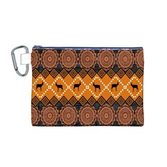 Traditiona  Patterns And African Patterns Canvas Cosmetic Bag (M)