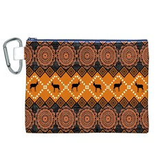 Traditiona  Patterns And African Patterns Canvas Cosmetic Bag (XL)