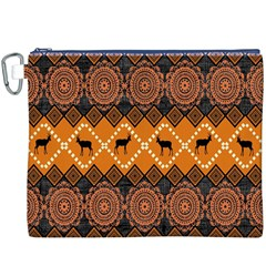 Traditiona  Patterns And African Patterns Canvas Cosmetic Bag (XXXL)