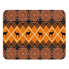 Traditiona  Patterns And African Patterns Double Sided Flano Blanket (Large)