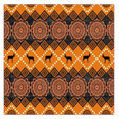 Traditiona  Patterns And African Patterns Large Satin Scarf (Square)