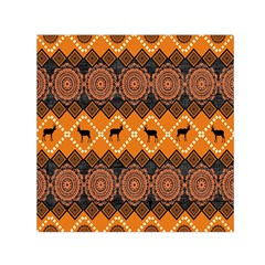 Traditiona  Patterns And African Patterns Small Satin Scarf (Square)