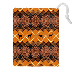 Traditiona  Patterns And African Patterns Drawstring Pouches (XXL)