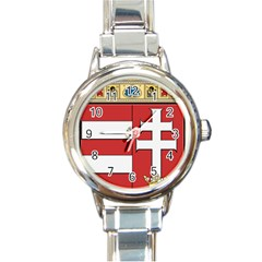 Medieval Coat of Arms of Hungary  Round Italian Charm Watch