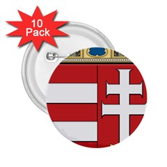Medieval Coat of Arms of Hungary  2.25  Buttons (10 pack)
