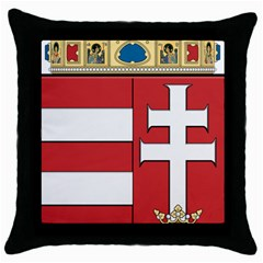 Medieval Coat of Arms of Hungary  Throw Pillow Case (Black)