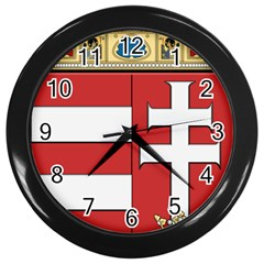 Medieval Coat of Arms of Hungary  Wall Clocks (Black)